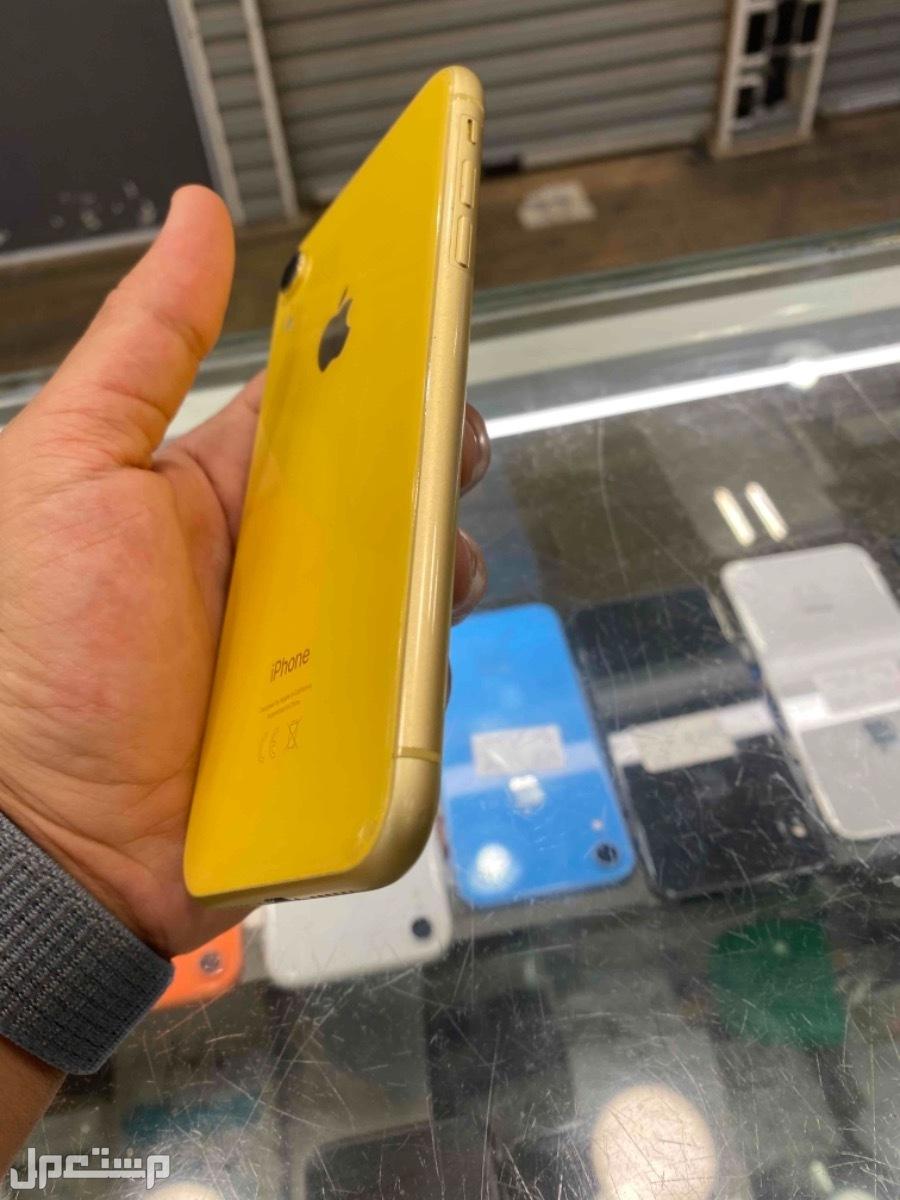 للبيع ايفون اكس ار 256 مستخدم اصفر