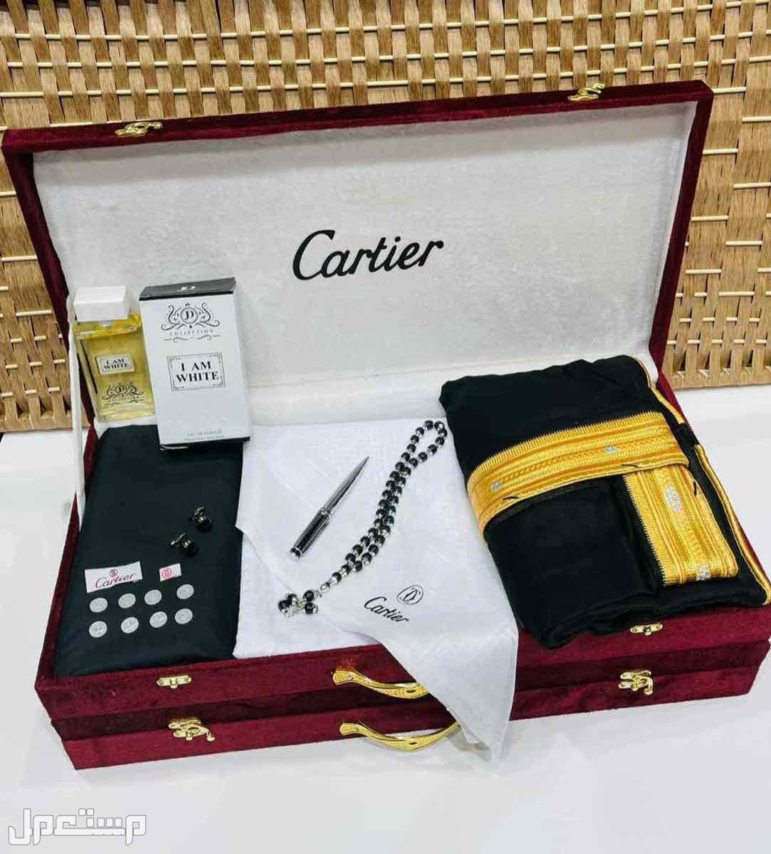 بوكس هدايا رجاليه كارتير قماش شماغ بشت قلم كبك