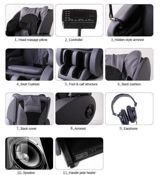 كرسي التدليك و المساج الشامل لكل أجزاء الجسم موديل M06 الأغلى والأفضل كرسي مساج M06 الذي يحتوي على 103 وسادة هوائية