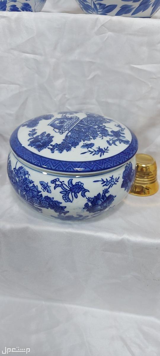 لمحبي الزعيم طقم شاي صيني فاخر الوان مائية ثابته
