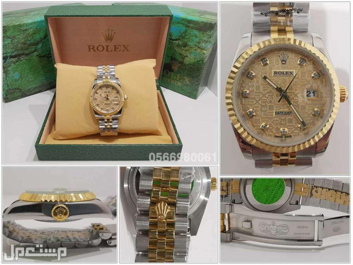 ساعات رولكس ديت جست رجالي Rolex كوبي درجة اولى