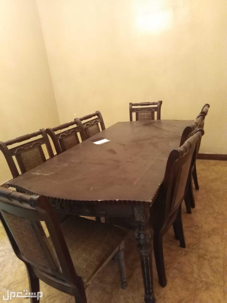 طاولة طعام كبيرة 8 كراسي مع البوفيه دولاب كبير فخم