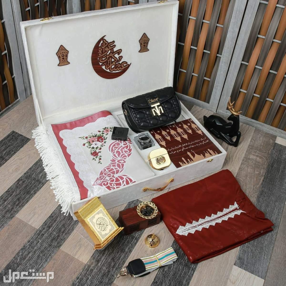بوكس هدايا نسائي  رمضاني  تصميم العبارة ع البوكس  حسب الطلب