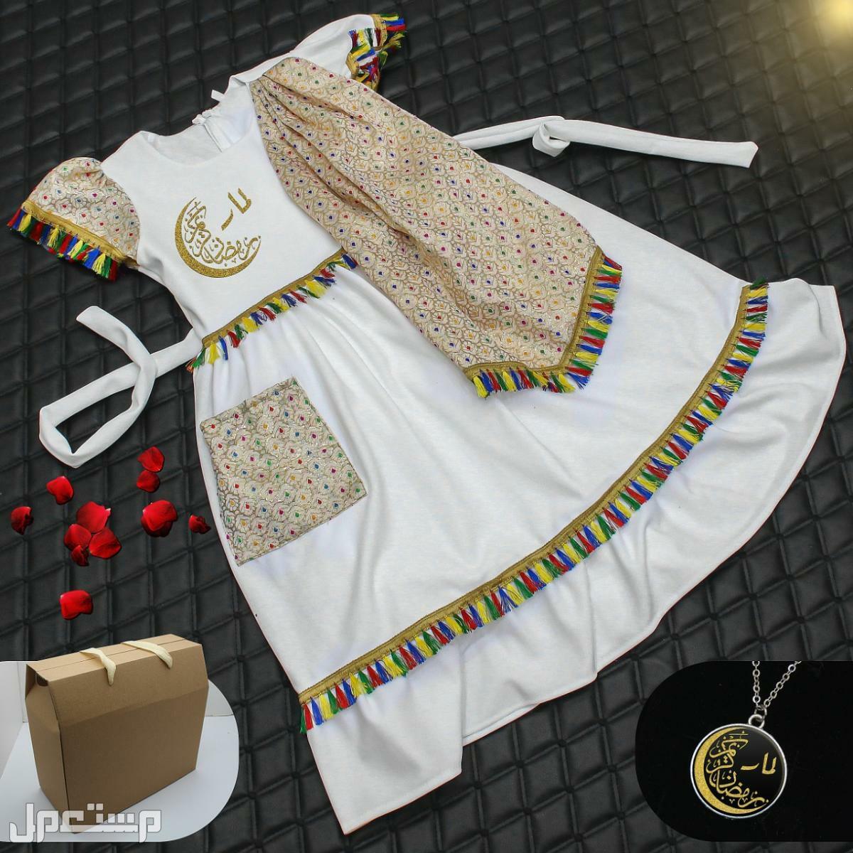 فستان بناتي روعة مع تفصيل الاسم حسب طلبك