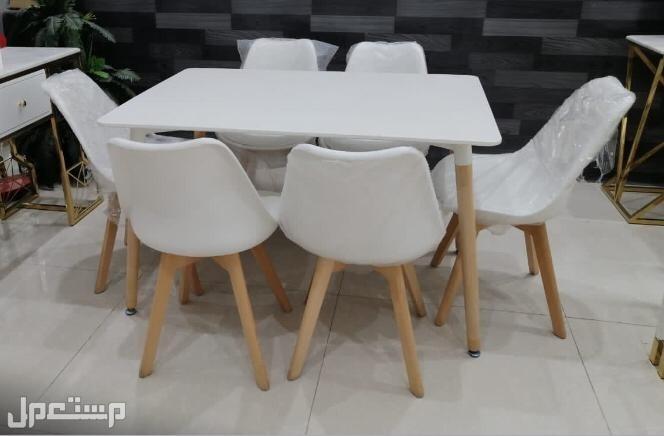 طاولات خشب 6 كراسي