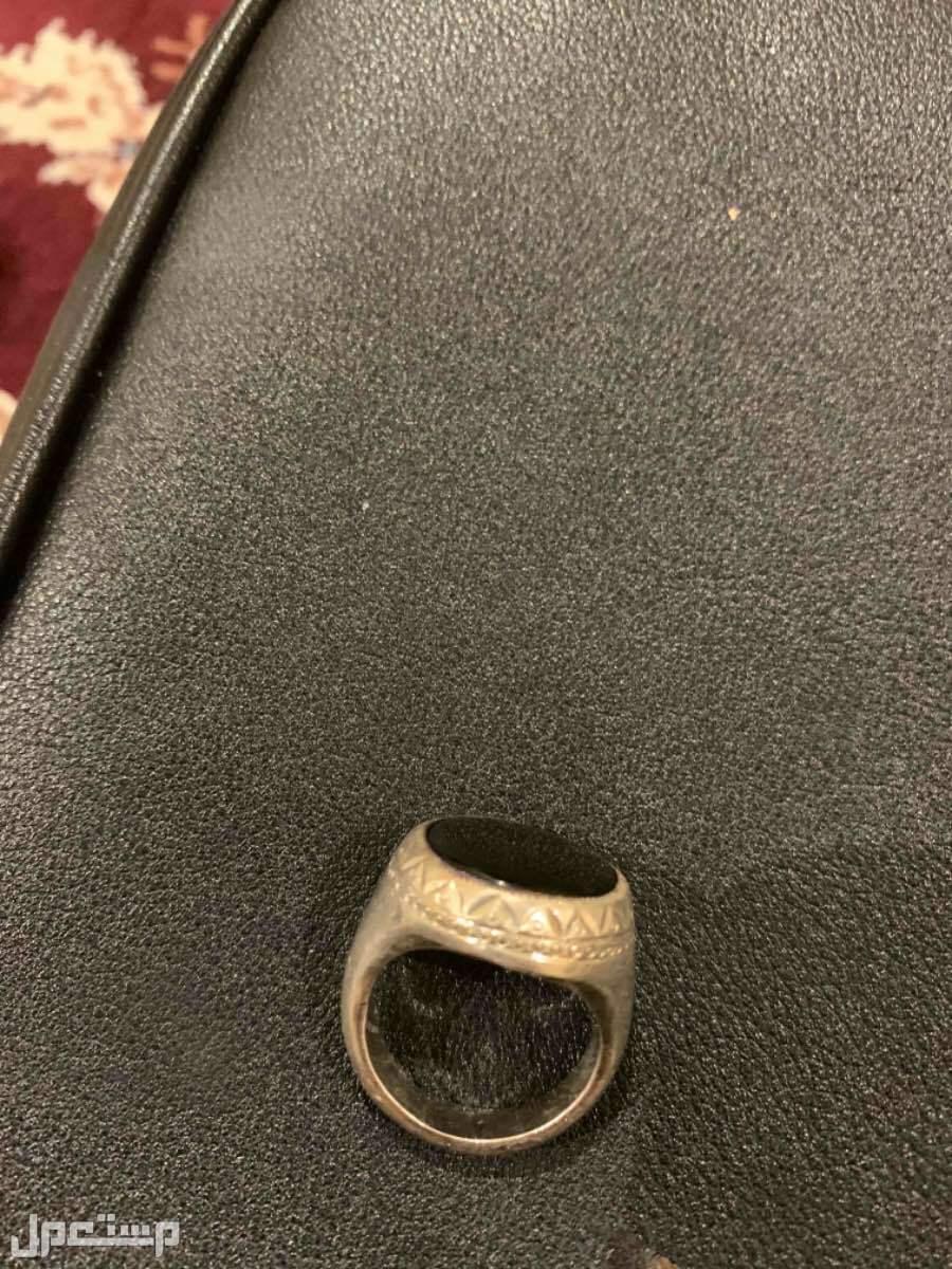 خاتم فضة اصلي مستعمل استعمال خفيف