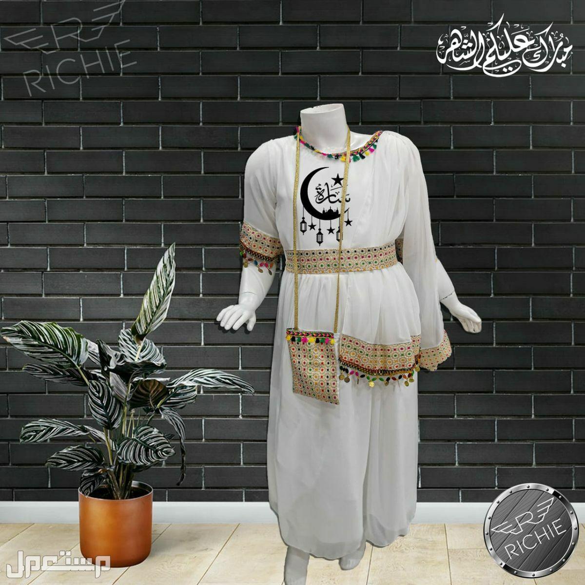 فستان بناتي  مع طباعة الاسم علية حسب طلبك
