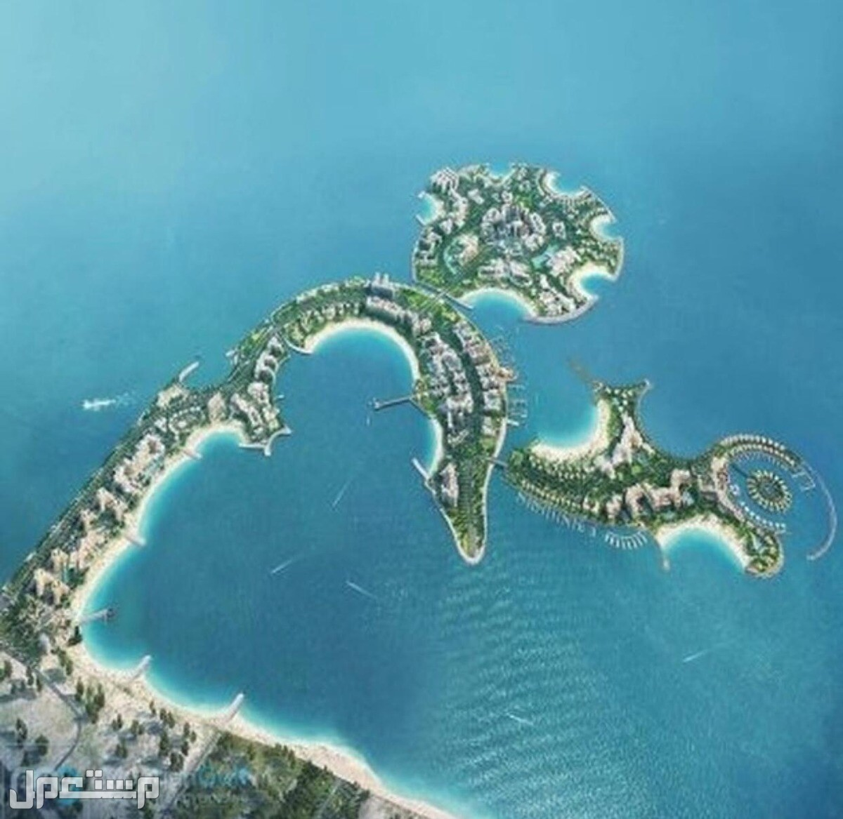 اخر فرصة للتملك في اكبر مشروع استثماري براس الخيمة صورة توضح جمال الجزيرة على البحر