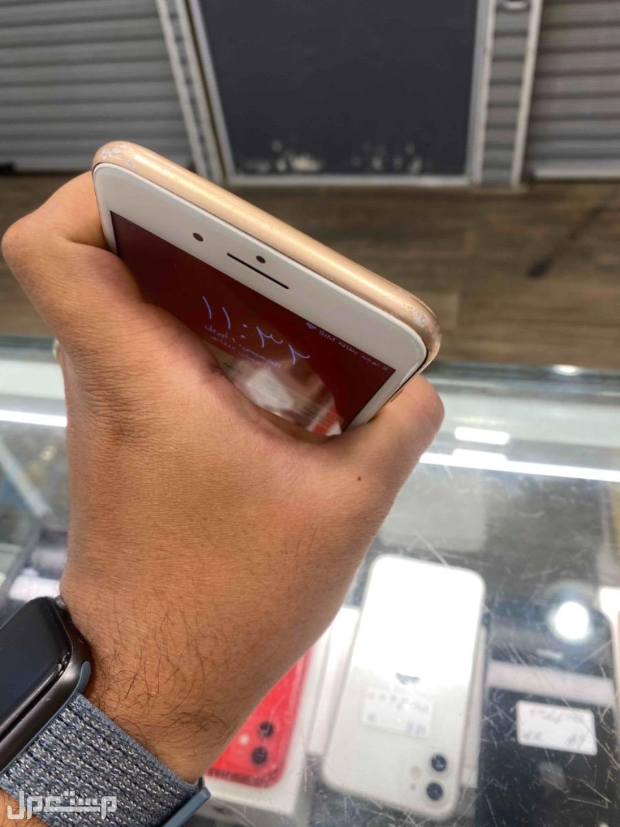 للبيع ايفون 8 بلس 64 مستخدم ذهبي
