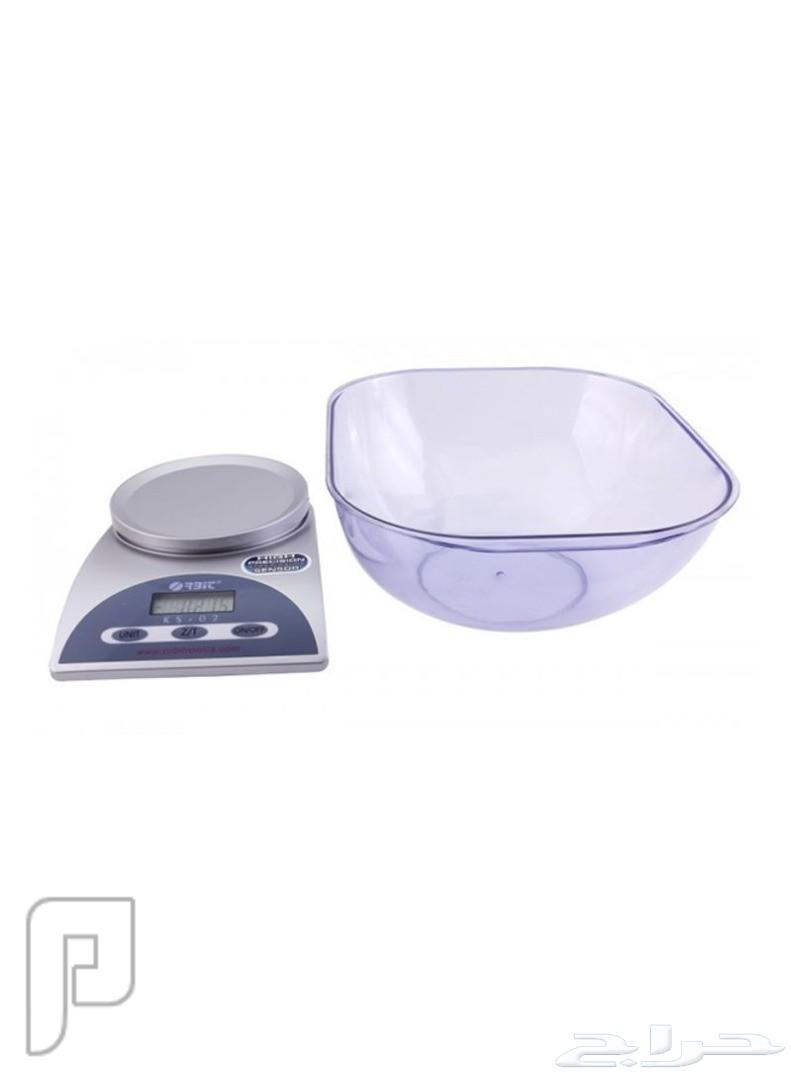 ميزان المطبخ شفاف