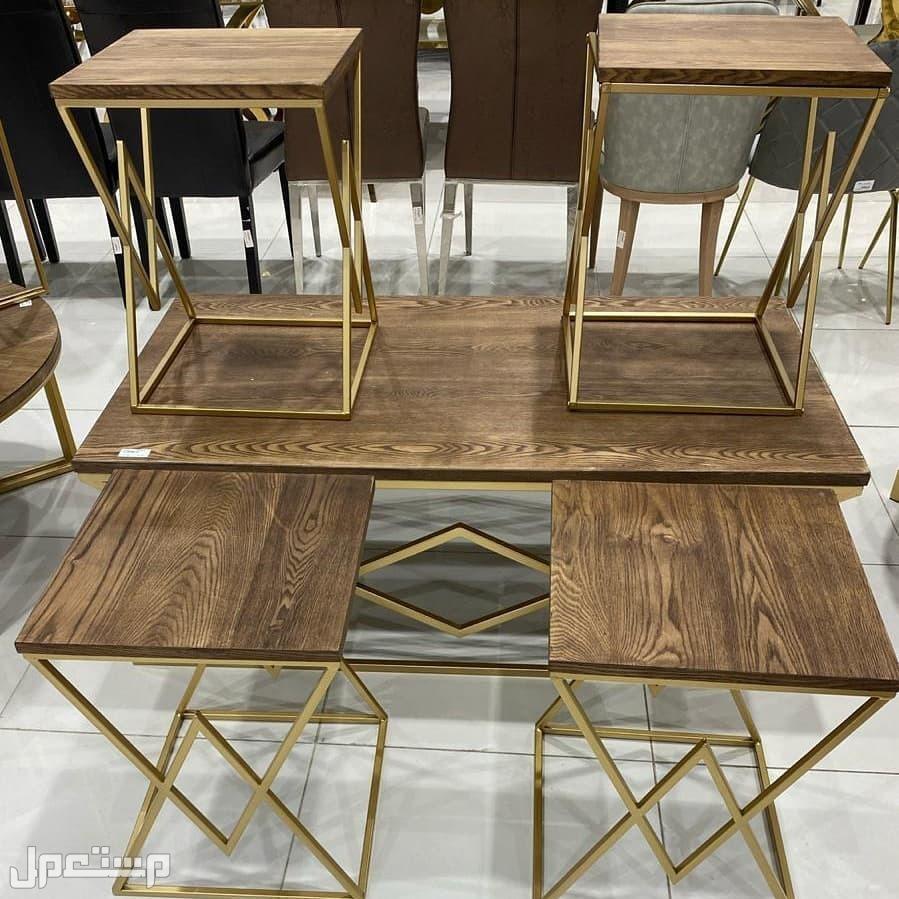 طاولات خدمه خشب واستيل