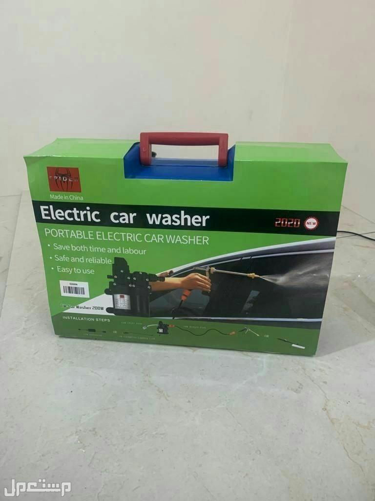 مضخة لغسيل السيارات تعمل على ولاعة السياره او كهرباء المنزل ضمان عام