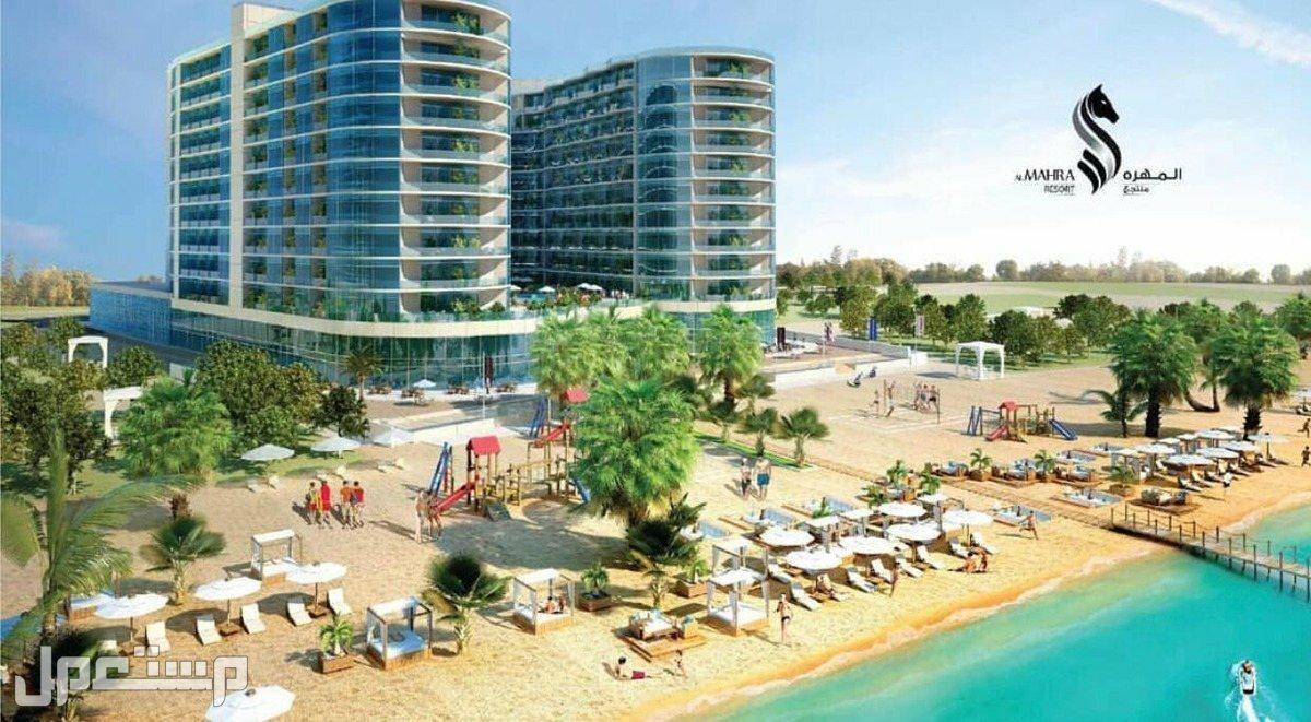 تملك الان بمنتجع المهرة الفندقي ( المشروع الاضخم والاشمل للاستثمار ) واجهة المنتجع على البحر مباشرة