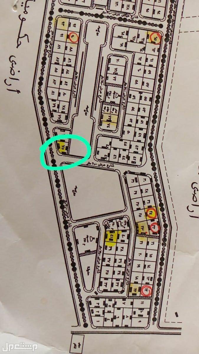 ارض تجاريه 3 شوارع مخطط الكهرباء