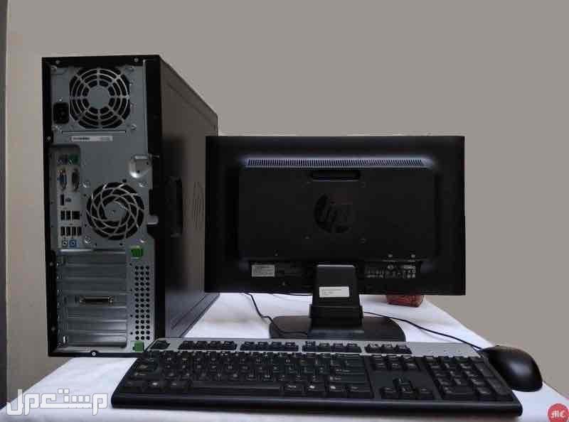 كمبيوتر مكتبي HP كور i5 مع شاشه بسعر مغري