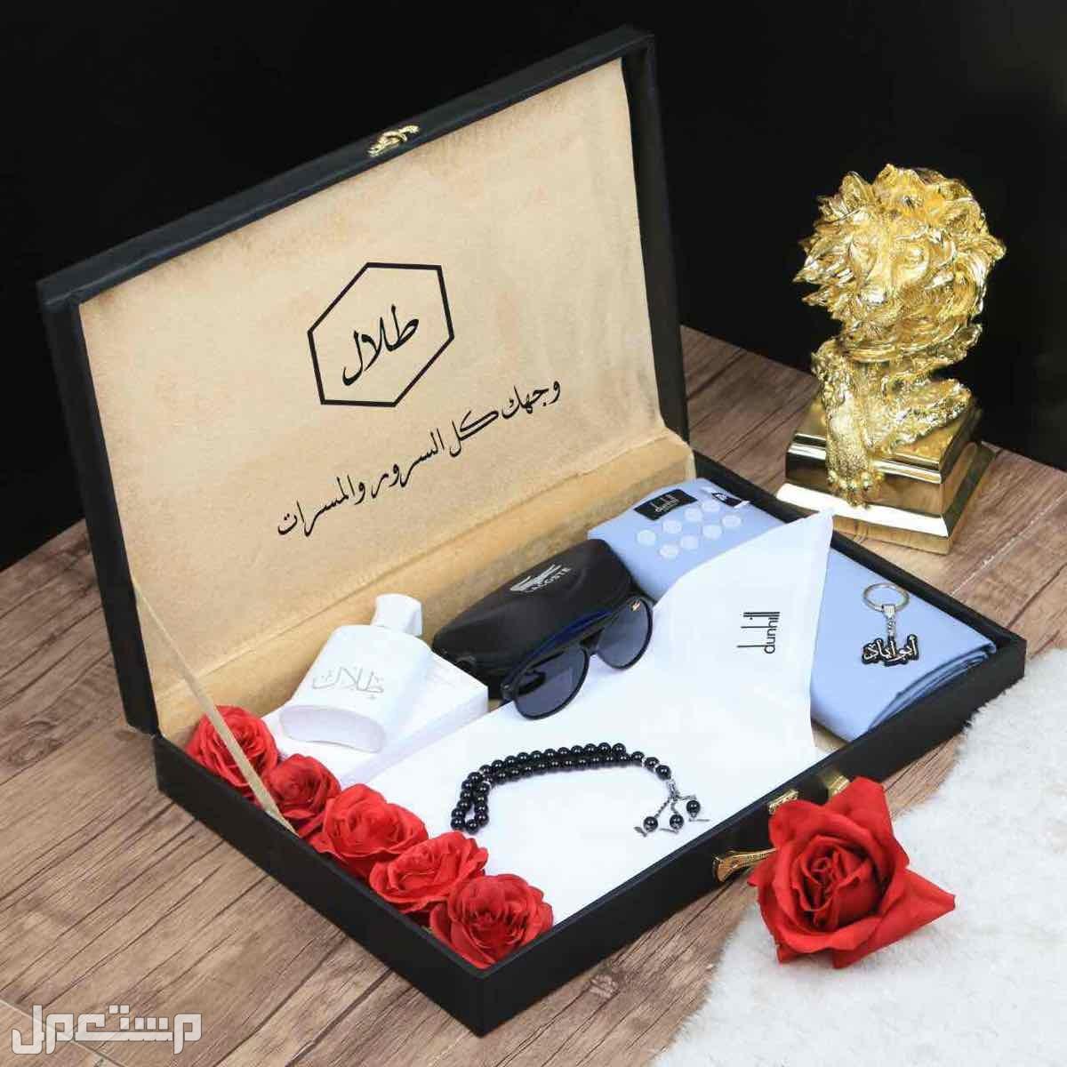 بوكس هدايا رجالي دنهل قماش شماغ نظاره لاكوست عطر تصميم بالطلب