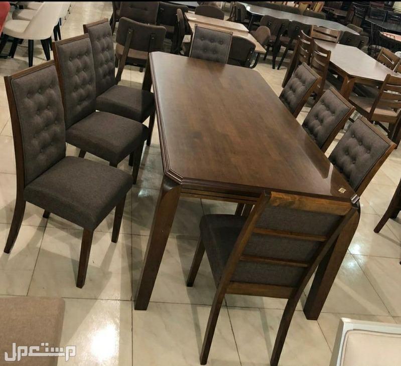 طاولة طعام خشب 8 كراسي خامة ممتازه وجوده عالية