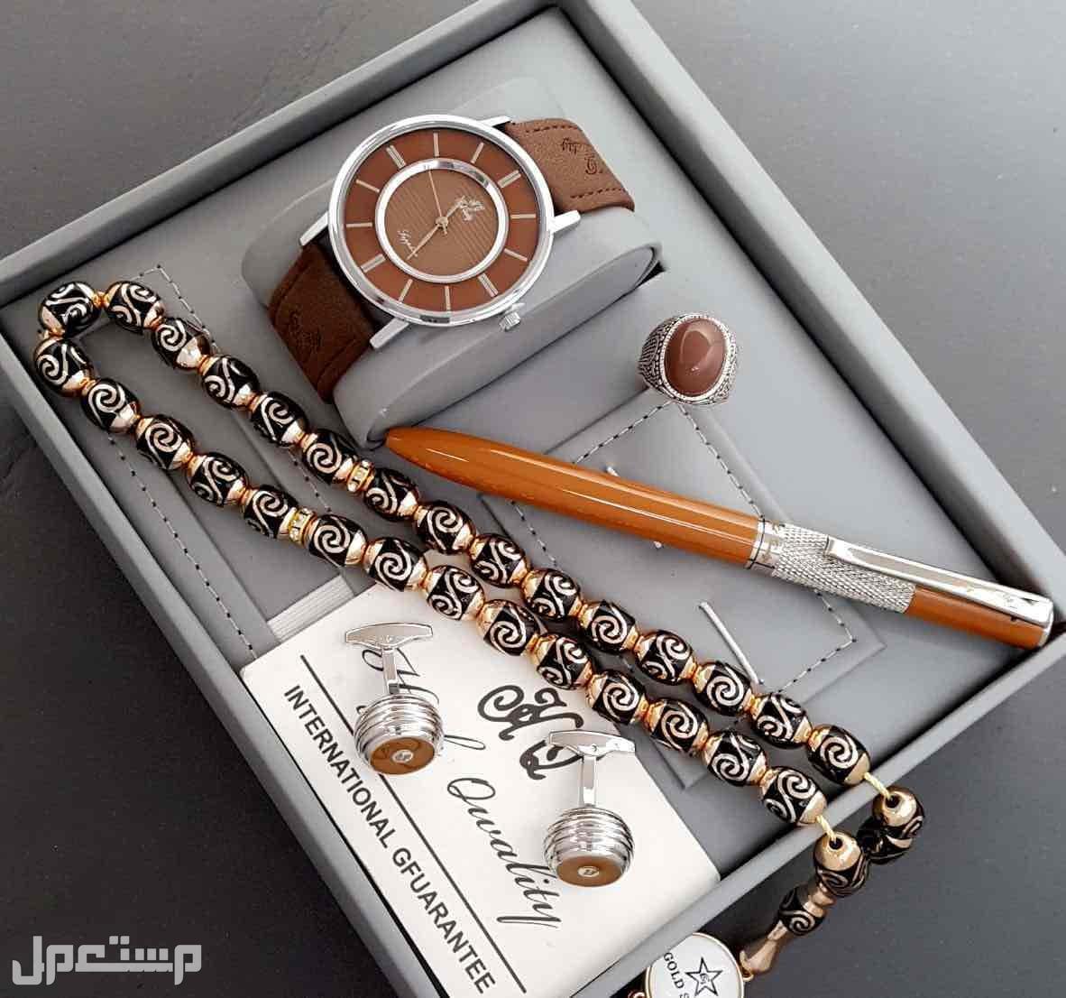 طقم رجالي ساعه قلم كبك محفظه نظاره ميداليه خاتم مسبحه