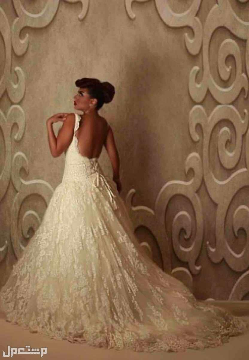 فستان زواج فخم جدا دانتيل مستعمل فررررصصصصة