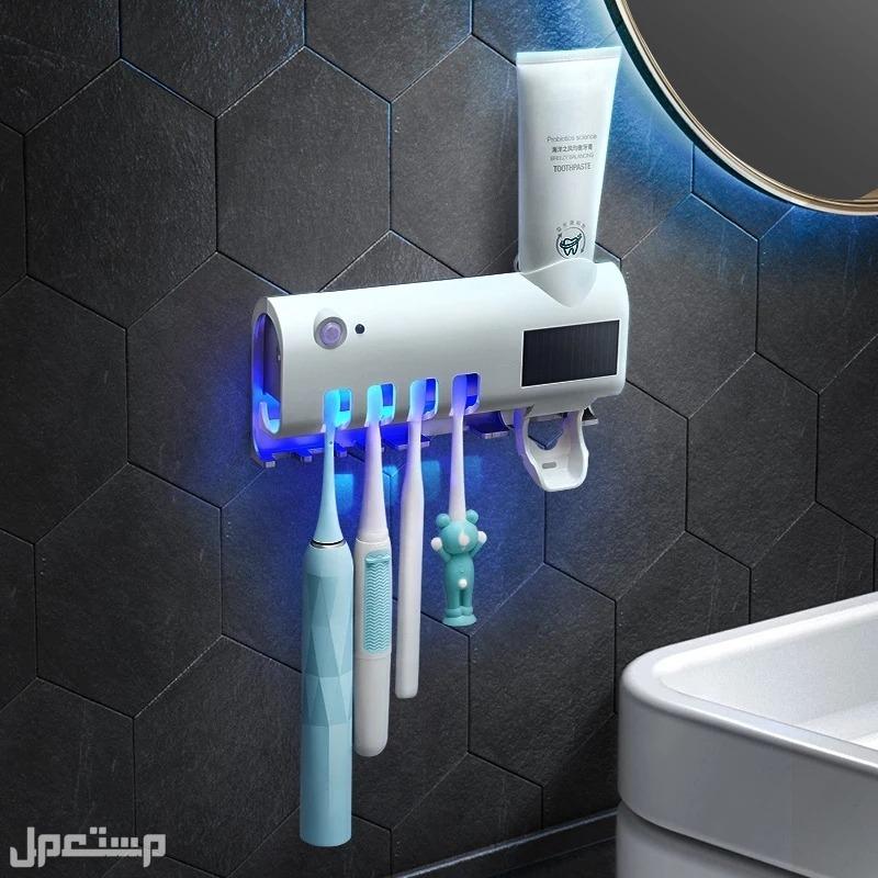 حامل فرش أسنان مع معقم بالأشعه فوق البنفسجية UV