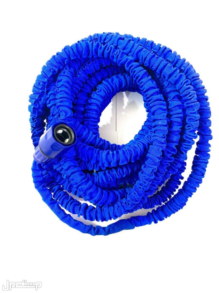 خرطوم مياه قابل للتمدد مع فوهة بتصميم بخاخ