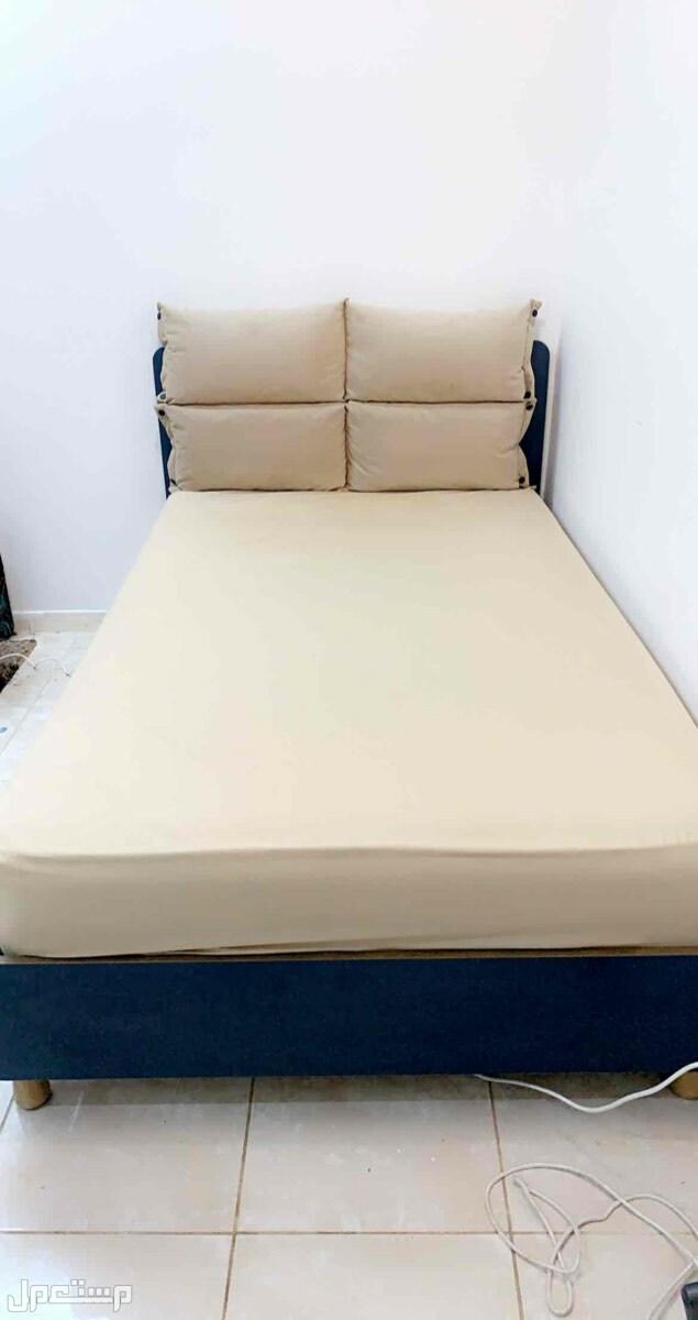 سرير نفر ونص مع مرتبة