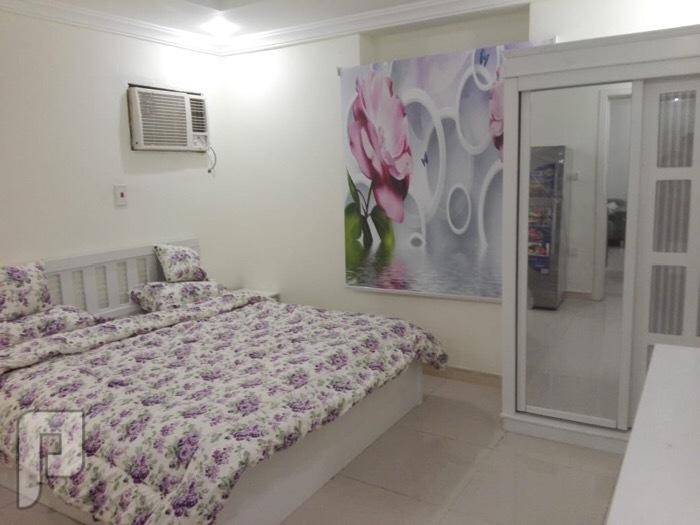 شقة غرفة وصالة ومطبخ وحمام مؤثثة للايجارالشهري
