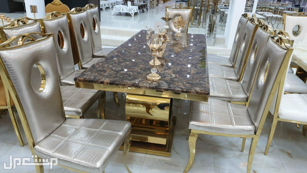 طاولات رخام ستيل فخمة خامة ممتازة وتصميم راقي