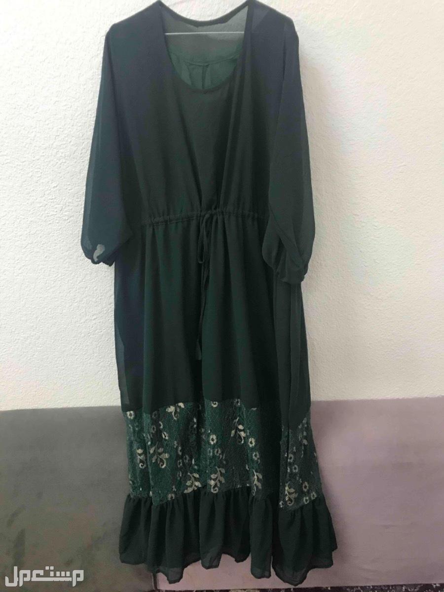 فستان شيفون تركوازي