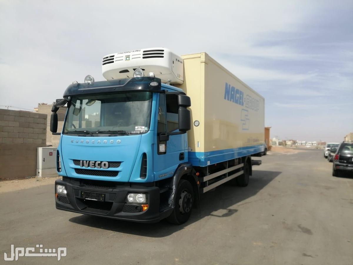 للبيع   شاحنه افيكو تلاجه (2*4) 120E25 مع مبرد ثيرموكنج MD300 موديل : 2011