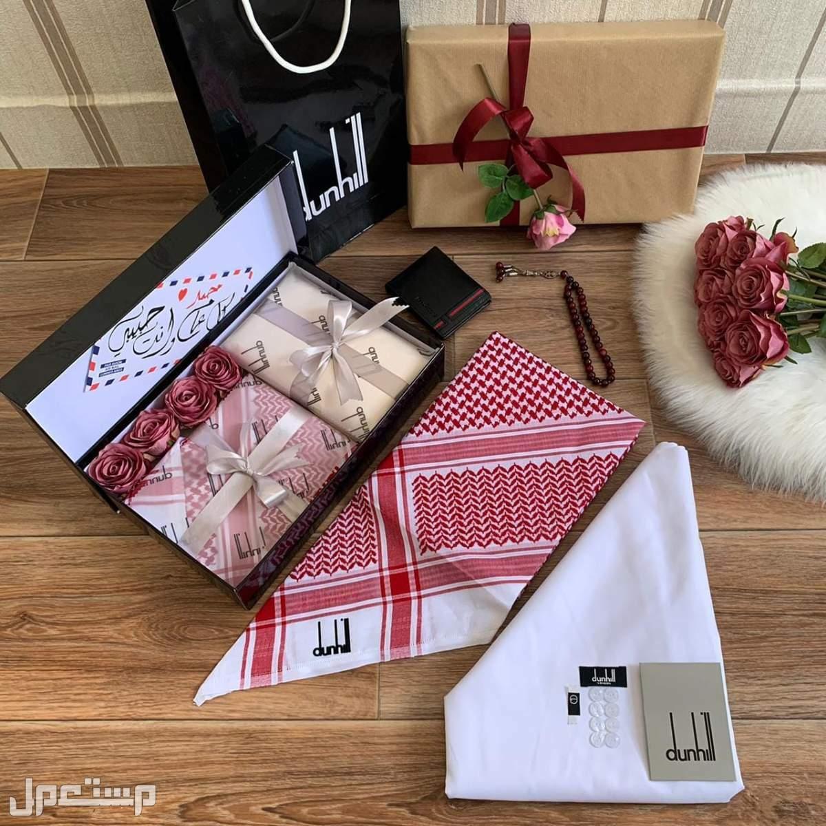 هدايا العيد بكس فخم ومميز من دنهل افخر الاقمشه والشماغات الفاخره♥يوجد شحن
