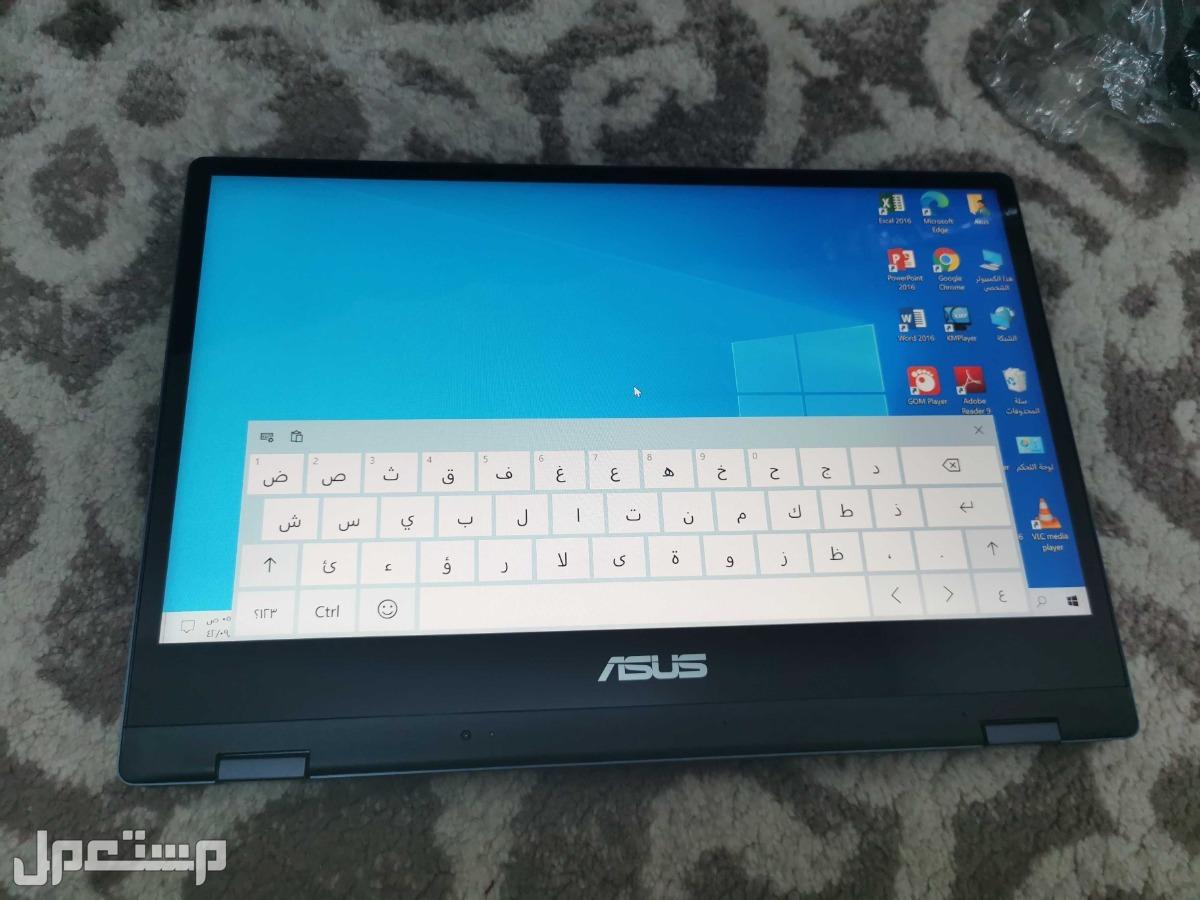 لاب توب Asus i5 جيل ثامن لمس 360درجة يصير تابلت وندز10 اصلي SSD للبيع