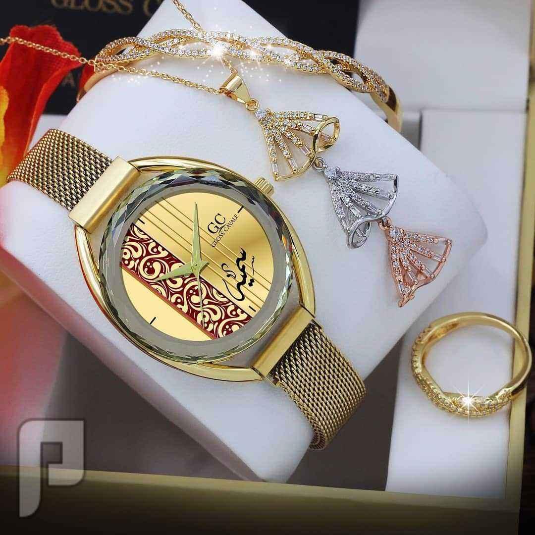 ساعة نسائي ماركة كافلي اصليه 100% مع تفصيل الاسم حسب الطلب