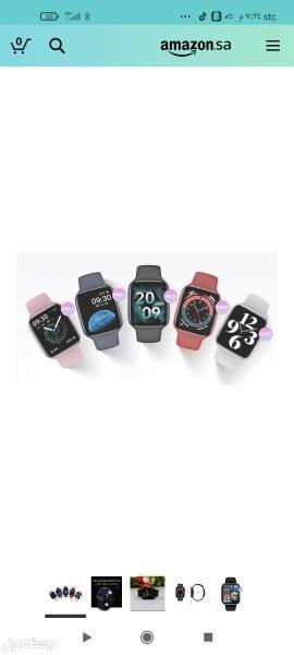 ساعة HW22 شبيهة ابل الاصدار السادس اللون ازرق 160 ريال