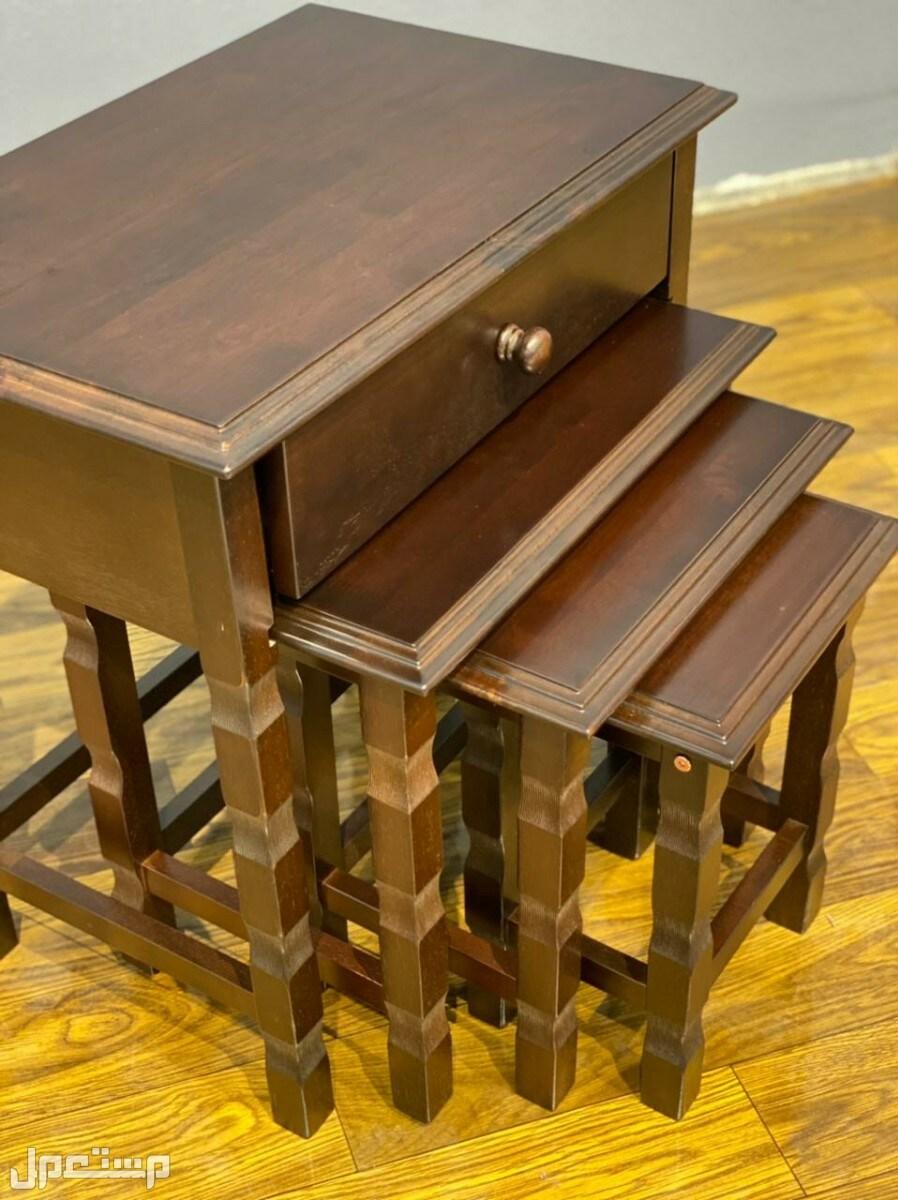 اطقم طاولات خشب مدرج صناعة ماليزية بسعر مخفض