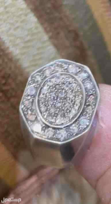 خاتم من الفضة مع الماس بلجيكي