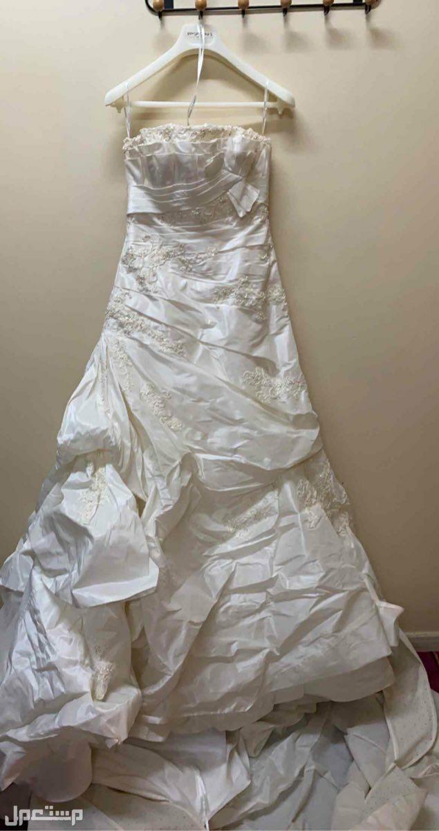 فستان زواج استخدام مره واحدة مع الطرحة