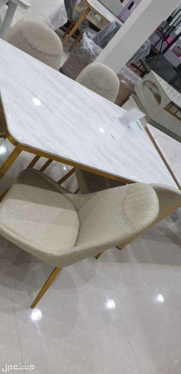 طاولات سطح رخام 4 كراسي