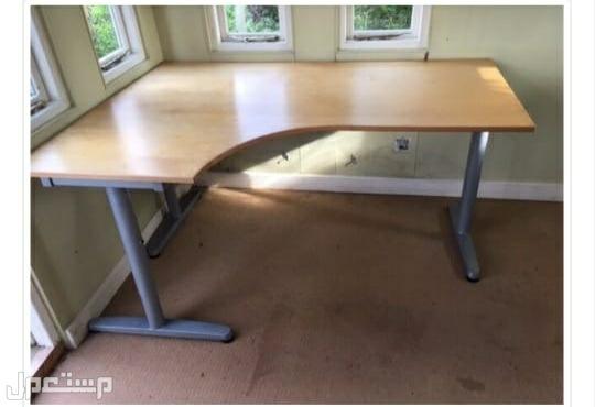 طاولة مكتب ايكيا زاوية قشرة سنديان