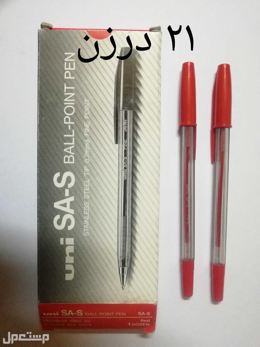 ادوات مكتبية و قرطاسية قلم جاف يوني ساس فاين ياباني - لون احمر