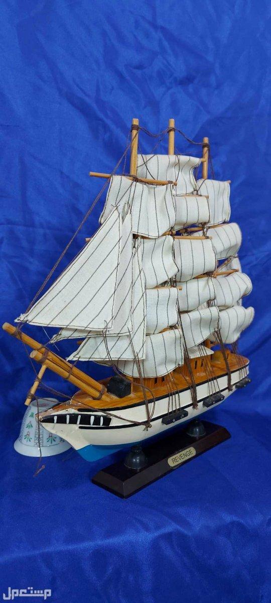 مجسم قارب شراعي (البوم) من الخشب تجسيم جميل ومتقن بسعر خااص جدا