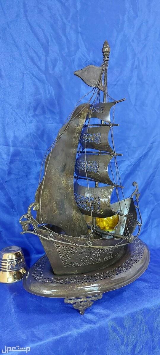 مجسم جميل ومتقن للقارب الشراعي تصميم وشغل يدوي نادر بسعر خاص