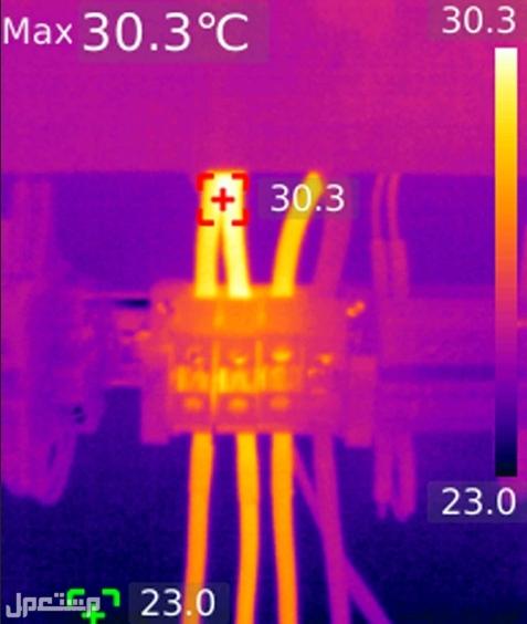 كاميرا حرارية تكشف الليل المظلم