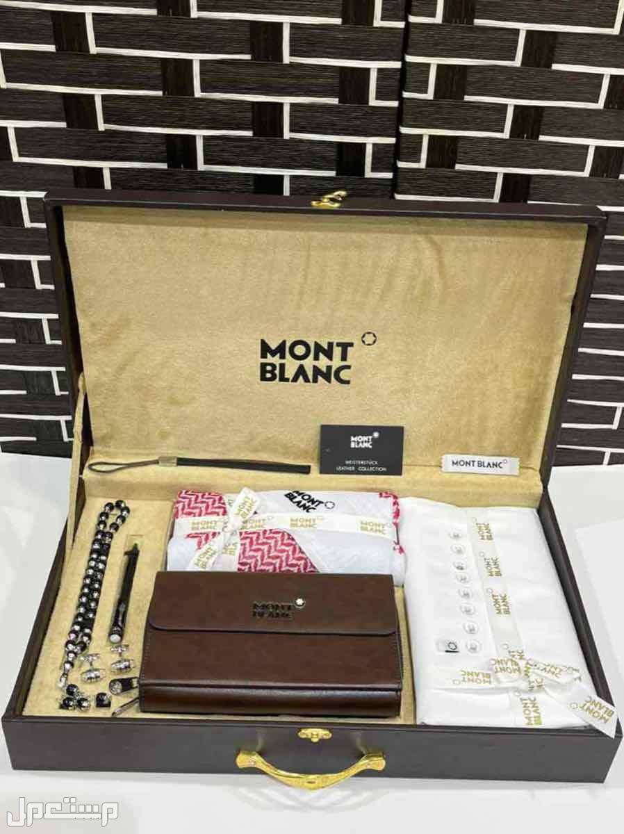 بوكس رجالي   هدايادنهل مونت بلانك جيفنشي قماش شماغ  مشلح شنطه ساعه قلم كبك