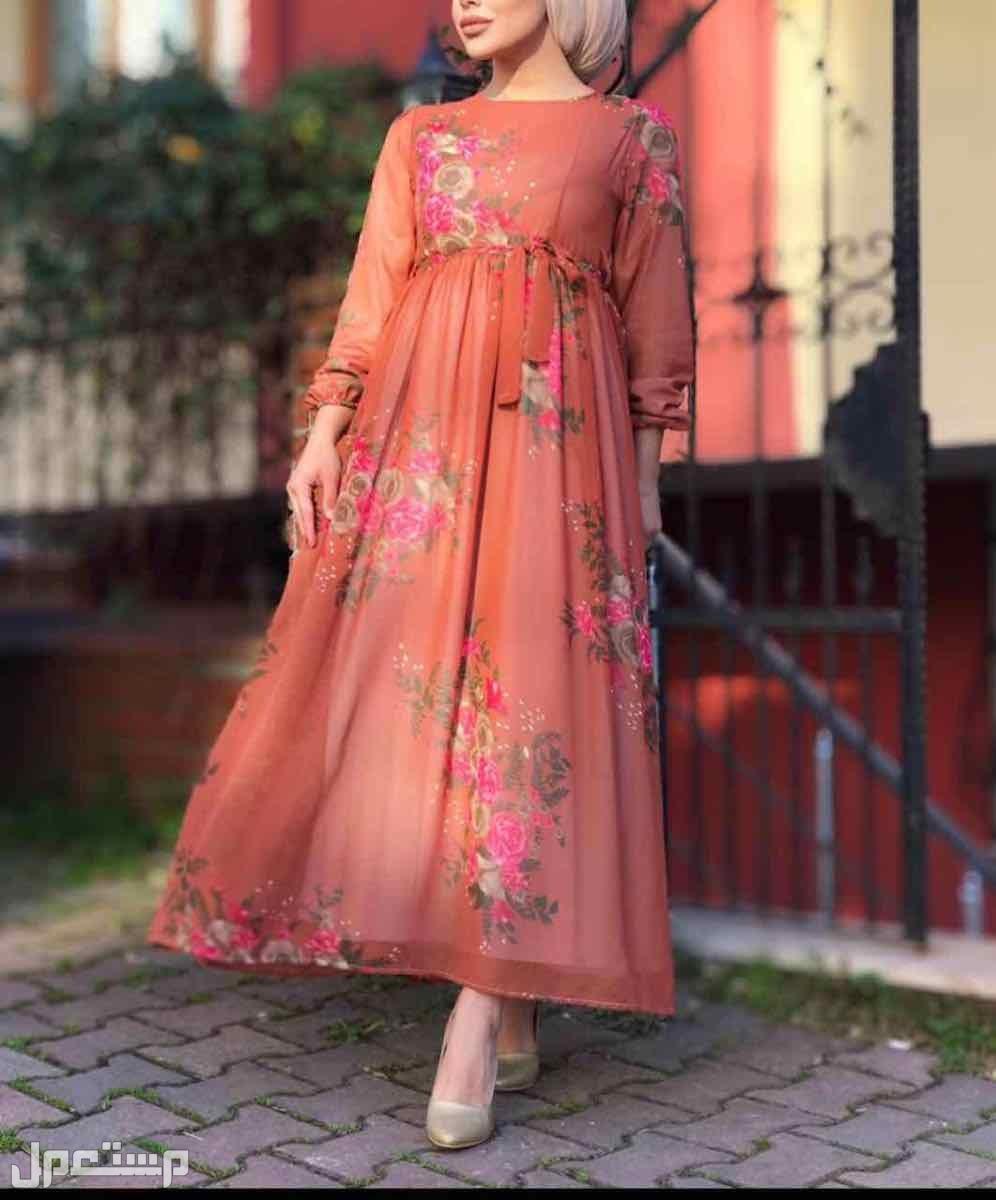 فستان شيفون مبطن