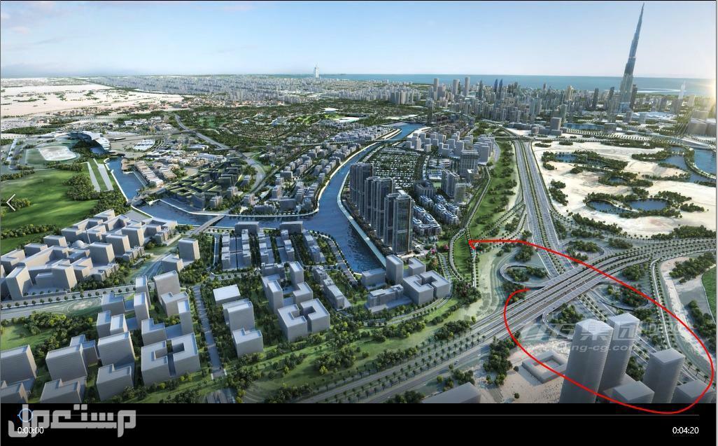 تملك شقق باطلالة على برج خليفة وعلى القناة المائية