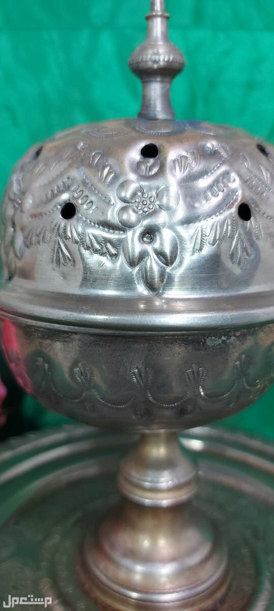 مبخرة تراثية منقوشة بالكامل نقوشات باشكال اسلامية دقيقة
