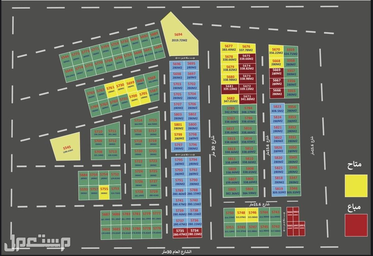 أراضي سكنية للبيع بحي الزاهيه بعجمان بالأقساط