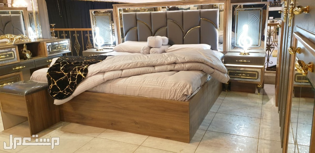 غرف نوم فخمة موديل جديد مع ضمان 3 سنوات