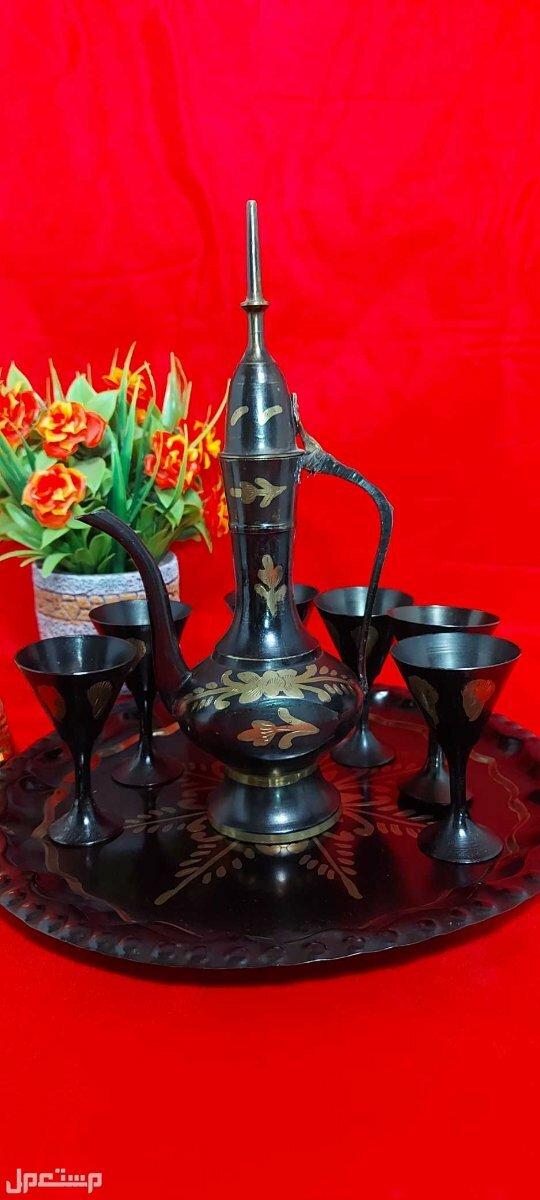 طقم شاي انتيك هندي فاخر تحفة انتيكة فاخرة
